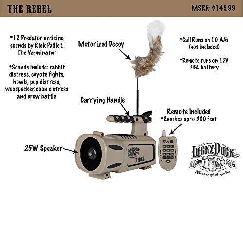 Product Image 3: Lucky Duck Rebel Predator Electronic Caller with Decoy