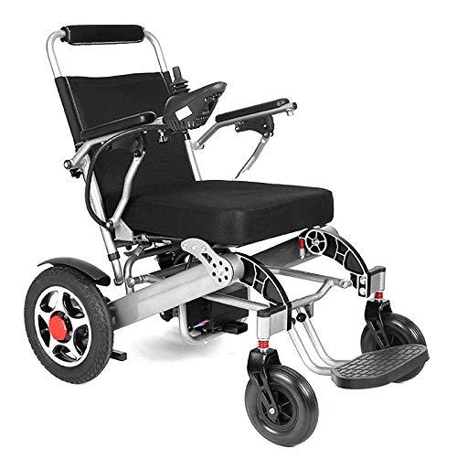 WXDP Selbstfahrender Rollstuhl, intelligenter automatischer Doppel-Roller, zusammenklappbar, leicht, für ältere Menschen mit Behinderten, elektrisch, goldfarben