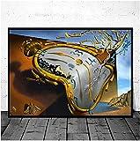 SXXRZA Imagen de póster 50x70 cm sin Marco clásico Famoso surrealismo Lienzo Pintura Salvador Dalí póster e impresión de Imagen de Pared
