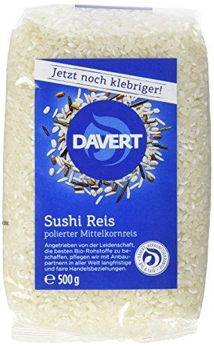 Davert Sushi Reis, 4er Pack (4 x 500 g) - Bio