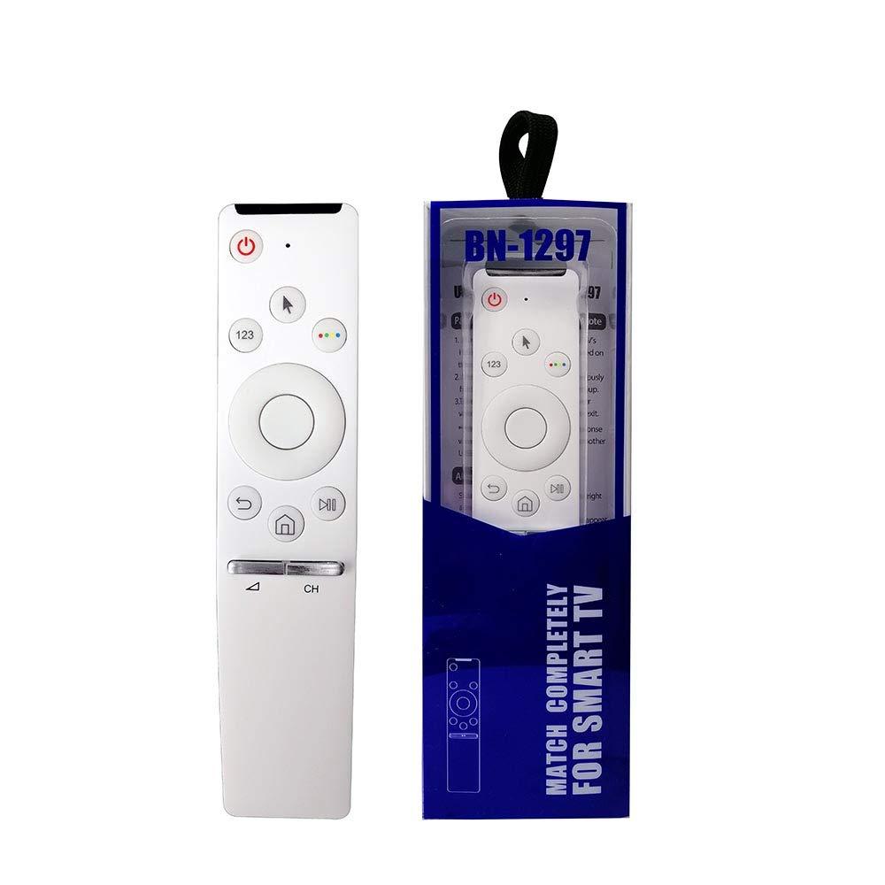 ihandytec BN-1297 - Mando a distancia de repuesto para Samsung Smart TV (LCD, LED, plasma, 2,4 GHz, compatible con SR 7557 7700), color blanco: Amazon.es: Electrónica