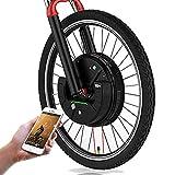 36V 350W IMortor De Ruedas MTB Bici Del Camino De La Rueda Delantera Con Motor USB APP Bicicleta Eléctrica Kit De Conversión E Bike Kit Bicicleta Eléctrica ( Color : Disc wire control , Size : 29 in )