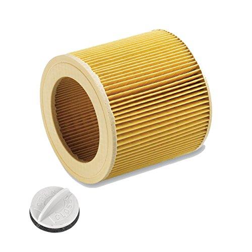Filtro de cartucho para aspirador de agua/seco Aspirador de agua/Kärcher A 2204 2254 2101 2201 2201 WD2 WD3 WD3 MV2 MV3 WD2.200 WD3.500 P WD 3.200, WD 3.500 P como 6.414-552.0