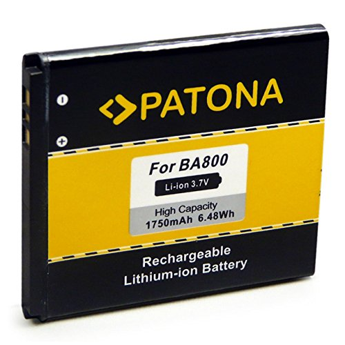 PATONA Bateria BA800 Compatible con Sony Ericsson Xperia C LT25i LT26i S