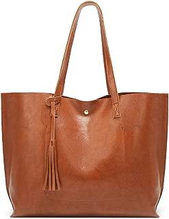 COAFIT Women's Tote Bag Tassel Large Tote Handbag Top Handle Bag