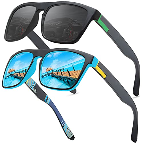 LEDING&BEST Occhiali da sole polarizzati per uomo donna Pesca Golf Bicicletta Guida Pesca arrampicata Sport all aperto occhiali da sole