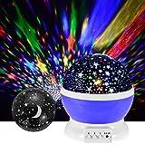 Lampe de Projection Musique Lumière Rechargeable Projecteur Veilleuse Nuit, Rotation...