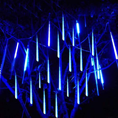 kengbi Christmas Indoor and Outdoor Tree Room DecorLigh 30cm 50cm 8 Tubes Waterproof Meteor Shower Rain LED String Lights Outdoor Christmas Decoration for Home Tree