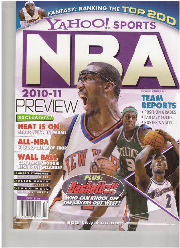 Yahoo Sports NBA 2010-2011 Preview Magazine (Exclusive heat is on stars align in Miami, December 2010)