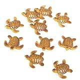 NEYOANN 10 piezas de casa de muñecas en miniatura Bonsai cuento de hadas jardín paisaje artesanía tortuga mar decoración