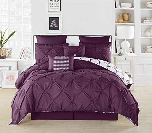 Duck River Textile full, size, black, blue, cal, king queen, twin c, double, dinosaur, daybed, dorm bed,comforter set dark, Plum, 104x90