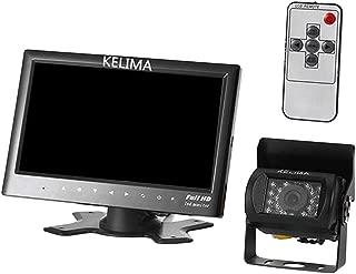 "Perfk 7"" Car Wide Angle Rear View Monitor + IP65 18 LED Reversing Rear View Camera"