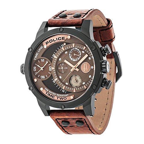 Police Herren-Armbanduhr Adder Analog Handaufzug 14536JSB/12A