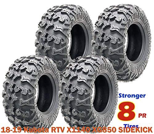 4 FREE COUNTRY Premium 8PR ATV tires 25x10-12 fit 18-19 Kubota RTV X1140 XG850 SIDEKICK