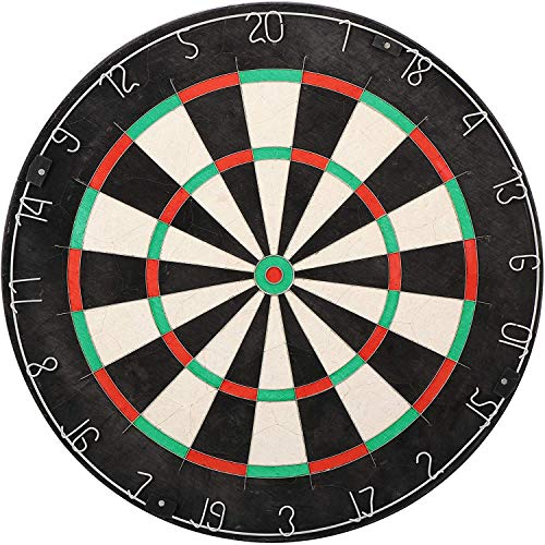 Smartxchoices Pro Bristle Dartboard Steel Tip Self-Healing Tournament Dart Board Increased Scoring Area Reduced Bounce-Outs with Thinner Wires and Movable Number Ring