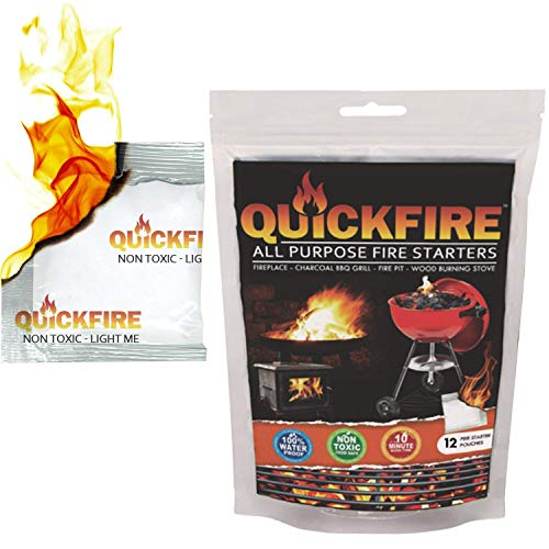 Quickfire Firestarters #1 Camping//Barbecue à Charbon Feu Starter Pack 50 Imperméable