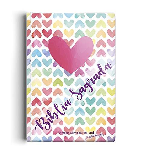 Bíblia ACF - Capa semi luxo coração color