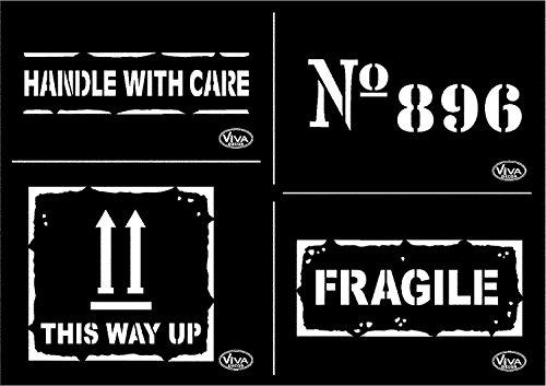 Universal-Schablone A4 Fragile