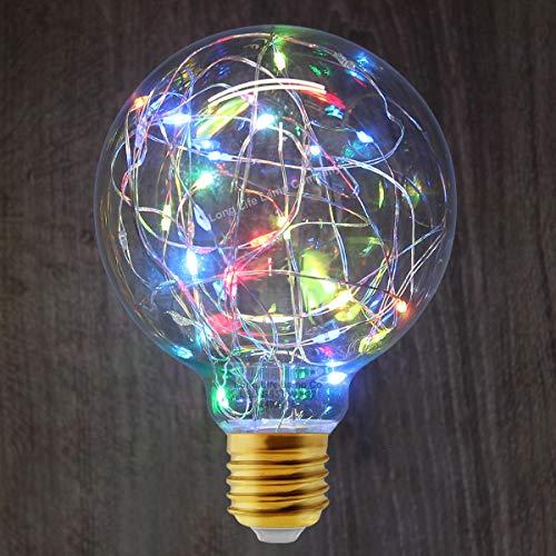 1w LED RGB Light Bulb Colour Changing Fairy String Filament E27 G95 Globe Decorative Festive Festoon Lamp 240v Mains