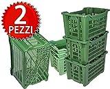 ICS Plastica 2 Cassette agricole impilabili aperte per olive