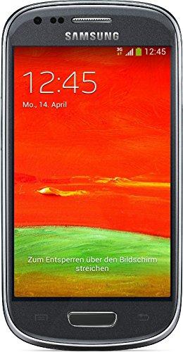 Samsung Galaxy S3 mini (GT-I8200N) Smartphone (10,2 cm (4 Zoll) Touchscreen, 5 Megapixel Kamera, 8GB Speicher, microSDHC-Kartenslot, Android 4.2) -  Grau [EU-Version]