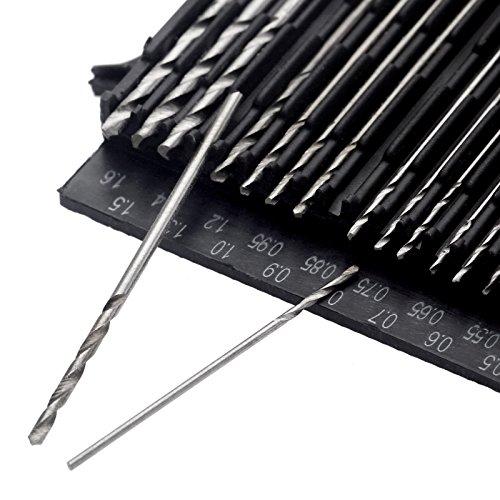 20pcs Mini High Speed Steel Hss Twist Drill Bit Set Artisanat Outil Case 0.3-1.6mm