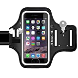 iPhone 6Plus 7Plus 8Plus Armband with AirPods Holder, JEMACHE Water Resistant Gym Running