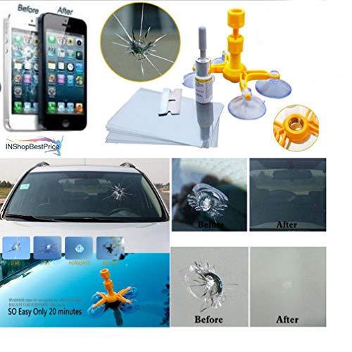 Zooarts Dieses Magic Reparatur-Set kann rissige Handyscheibe, Windschutzscheibe und jedes Glas...