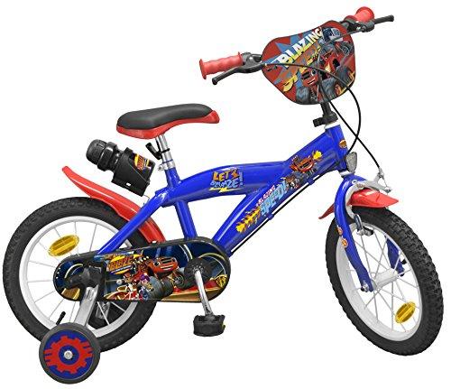 Toimsa 1422U - Bicicletta da 14' modello Blaze e i monster macchine 4-6 anni