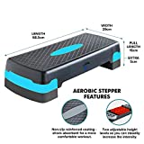 2 Level Adjustable Yoga Step Aerobic Fitness Stepper With Free Gym Exercise Chart