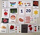SOE Store Educational Complete Preschool Learning Pack Thick Laminated Flash Cards Combo for Kids (120)