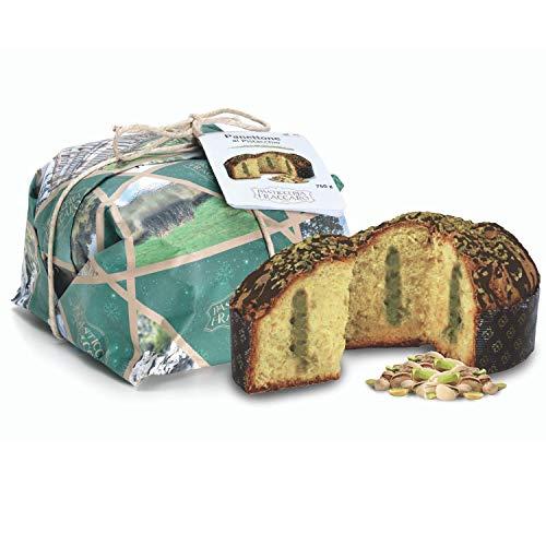 Traditionell gebackener Panettone mit Pistazien von Fraccaro Spumadoro, Weihnachtsgebäck Made in Italy – 750 g