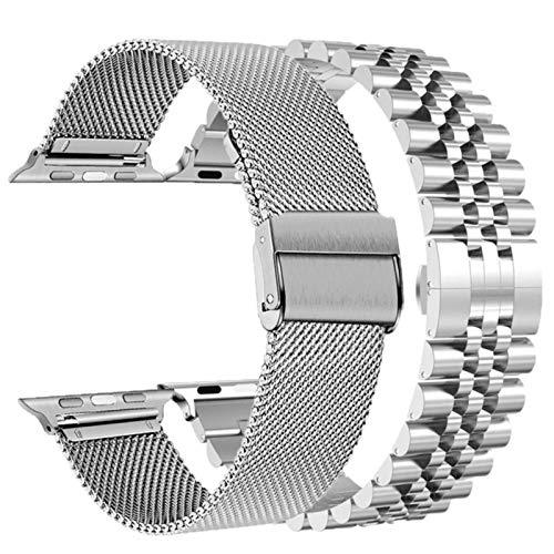 Band Mesh loop para apple watch 6 se band series 5 4 44mm 40mm para iwatch bands 3 42mm 38mm correa pulsera de acero inoxidable 2pcs