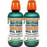 TheraBreath Fresh Breath, 24 Hour Dentist Formulated Oral Rinse, Rainforest Mint, 16 Fl Oz (Pack of 2)
