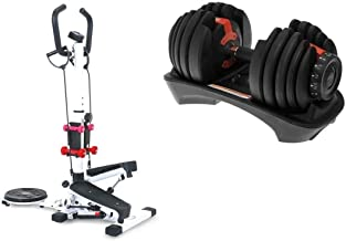 Stepper 4 in 1, white, QN-B307-1, With Fitnees World Adjustable weights for Body Exercises, Pounds 24