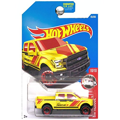 Hot Wheels 2017 HW Rescue \'15 Ford F-150 65/365, Yellow