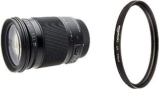 Sigma 18 300mm F3,5 6,3 DC Macro OS HSM Contemporary Objektiv (72mm Filtergewinde) für Canon Objektivbajonett & Amazon Basics UV Sperrfilter   72mm