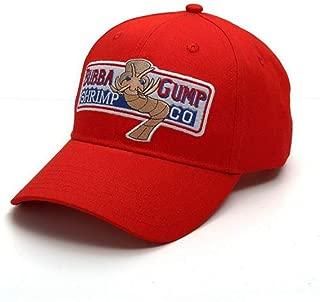 ZIXIANNIU Adjustable Bubba Gump Baseball Cap Forrest Gump Hat Red