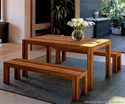 AISER Royal Massiver Echt-Holz Palisander Esstisch -Avignon- 160 x 90 cm aus besonders schön gezeichnetem Sheesham-Holz in modernem zeitlosen Design