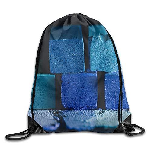 N/W Mochila unisex de color azul oscuro con diseño de tiza