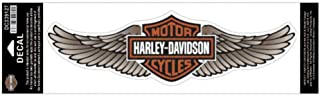 HARLEY-DAVIDSON Straight Wing Decal Tan, 3XL Size, 12 x 3.5 in. DC339127