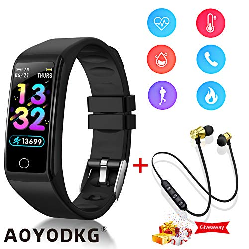 Smartwatch Orologio con Auricolare Sportivo Bluetooth, Smart Bracelet Activity Tracker e Fitness Tracker con 0.96\'\' Schermo, IP67 Impermeabile Pedometro e Notifiche di Messaggistica