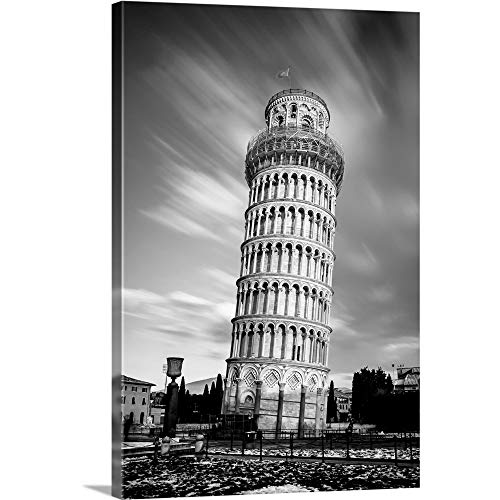 """GREATBIGCANVAS Leaning Tower of Pisa Canvas Wall Art Print, 24""""x36""""x1.5"""""""