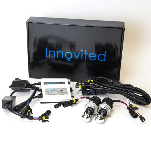 Innovited 55W AC HID bundle with (1 Pair) Slim Ballast and (1 Pair) Xenon bulb H4-3 9003 5000K Bi xenon HI/LO