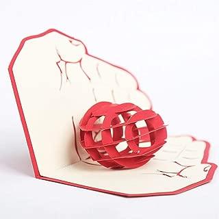 JN_ GX- KF_ 3D Pop Up Card Heart in Hand Greeting Anniversary Birthday Wedding