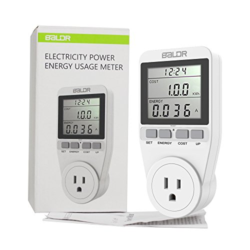 BALDR US Electricity Monitor, Power Energy Usage Meter, Kill A Watt