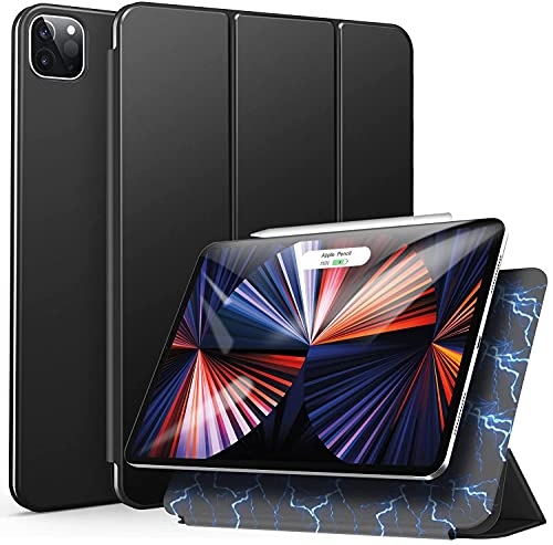 Ztotop Case for iPad Pro 12.9 2020 4th Generation, Strong Magnetic Minimalist Trifold Stand+Auto Wake/Sleep+2nd Gen iPad Pencil Support Cover for New iPad Pro 12.9 2018 3rd Gen/2020 4th Gen, Black