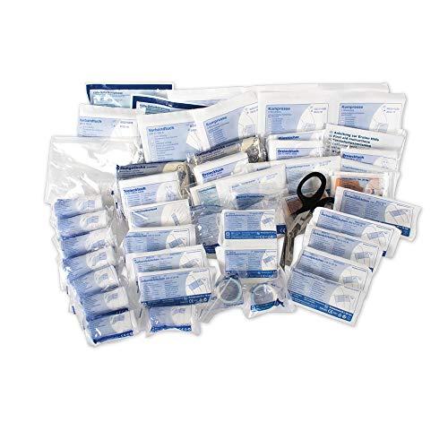 ACTIOMEDIC Erste-Hilfe-Nachfüllpackung nach DIN 13 169, Nachfüllset für Verbandkasten & -Schrank mit mehrsprachige Beschriftung I Notfallmedizinische Ausstattung
