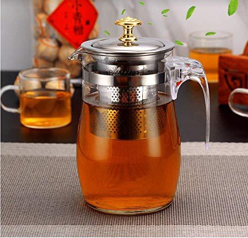 Teekanne tragbaren Glas-Wasserkocher voll herausnehmbaren Filter Haushalt Tee-Set Teekocher Büro Teetasse