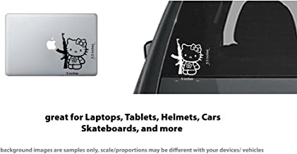 4X Hello Kitty AK47 AR15 Gun vinyl sticker/decal Car window, Laptops, tablets (Black)